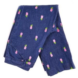 Lilly Pulitzer Pineapple Crop Jeans size 6